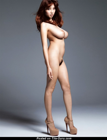 Shion Utsunomiya - Fine Topless Japanese Brunette with Fine Bald Natural Regular Tittys & Inverted Nipples in High Heels is Undressing (Hd 18+ Photoshoot)