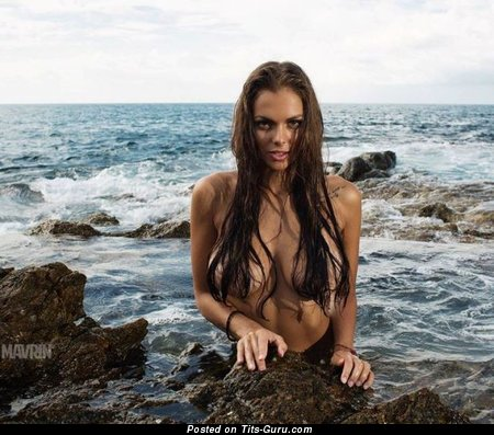 Viki Odintcova - Gorgeous Brunette with Gorgeous Open Natural Regular Titty (Porn Picture)