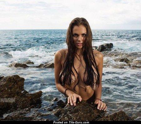 Viki Odintcova - Appealing Brunette with Appealing Bald Natural Regular Boobie (Sex Pix)