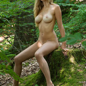 Corinna - sexy naked blonde with medium natural boob image