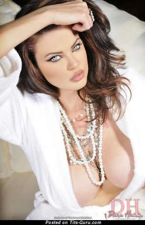 Image. Naked brunette with big boobs image
