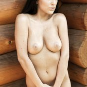 Beautiful girl with small natural tittes picture