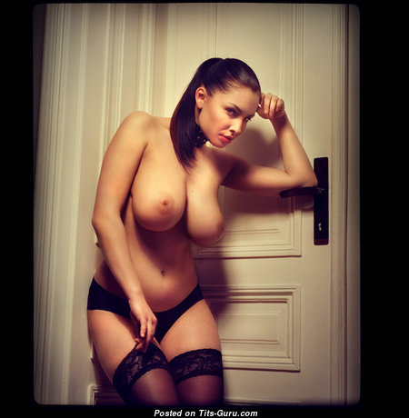 Beautiful Glamour Nude Brunette in Lingerie (Xxx Photo)