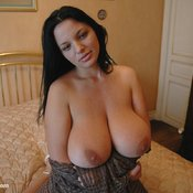 Wonderful woman with huge natural breast picture