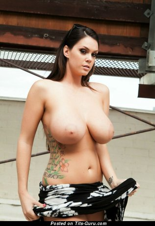 Magnificent Doxy with Magnificent Bald Extensive Hooters & Tattoo (18+ Photo)
