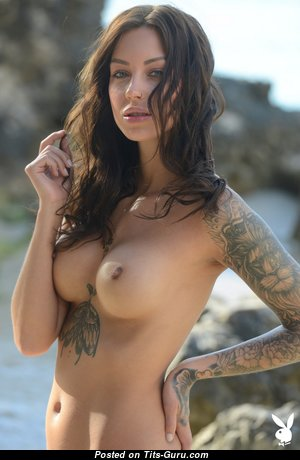Lena Klahr - Delightful Topless & Glamour Playboy Brunette Babe with Erect Nipples, Tattoo (Hd Sex Photoshoot)
