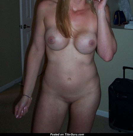 Brenda - Yummy Blonde Actress with Yummy Bald Silicone Jugs (Sexual Picture)