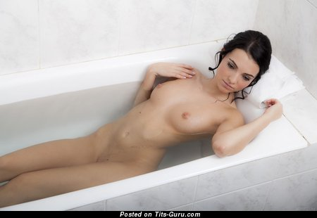 Image. Naked awesome girl with medium natural tits photo