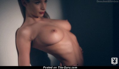 Image. Nude wonderful lady with medium tots gif