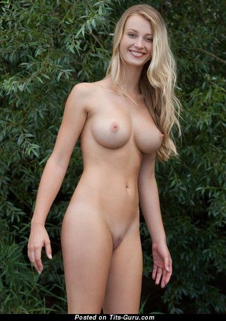 Image. Amateur blonde with medium boobs image
