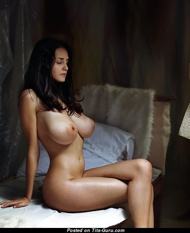 Cristy Ren - Hot Brunette with Hot Naked Real Substantial Breasts (Hd 18+ Image)
