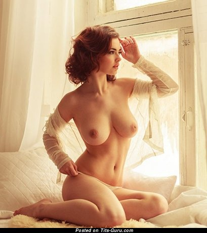 Image. Beautiful woman with big natural breast photo