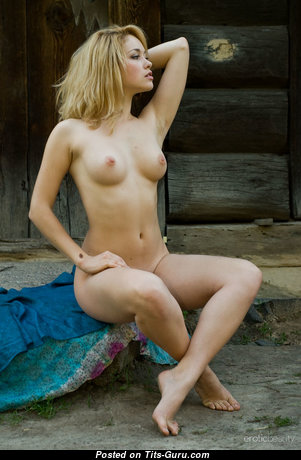 Alisa C - Alluring Babe with Alluring Bald Natural Little Jugs (Porn Wallpaper)