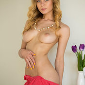 Agnes - nice girl with medium natural breast pic
