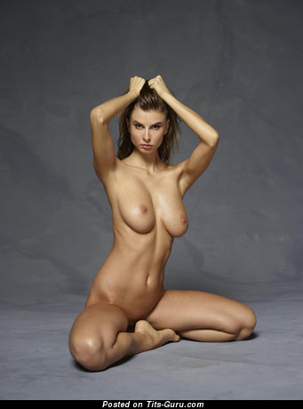 Image. Naked beautiful female with big natural tittes photo