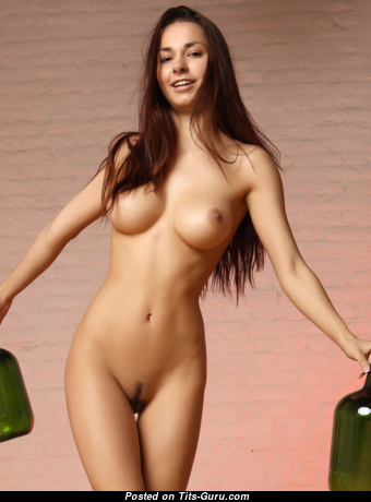 Helga Lovekaty & Charming Topless Russian Red Hair & Brunette Babe with Charming Bald C Size Titty & Enormous Nipples (Hd Xxx Pix)