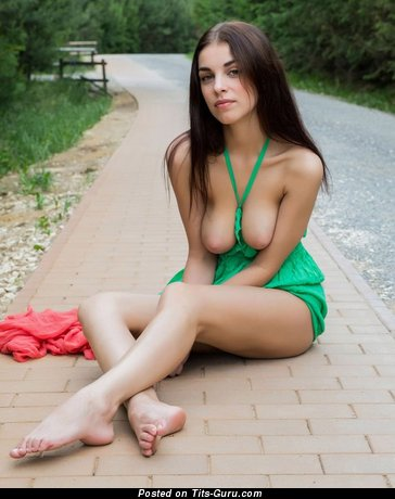 Image. Naked beautiful woman with natural breast pic