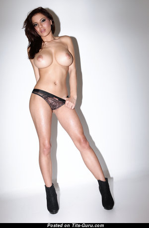Image. Lacey Banghard - naked brunette with huge natural boob picture