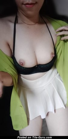 Angelique5 - Elegant Asian Babe with Elegant Exposed Natural Boobies & Huge Nipples (Private Selfie Xxx Picture)