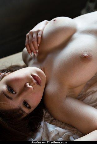 Azumi Kinoshita - Alluring Topless Asian Gal with Alluring Nude Natural Titties (Hd Xxx Photo)