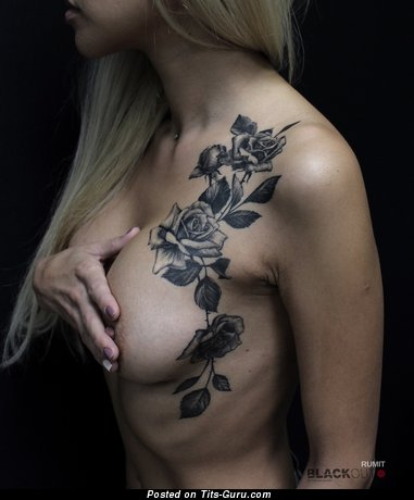 Image. Amateur naked beautiful girl with tattoo photo