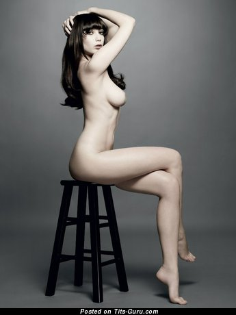 Image. Naked wonderful lady with medium natural tittys image