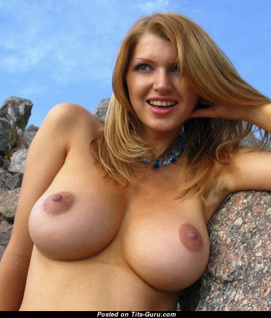 Beautiful Topless Red Hair with Beautiful Exposed Natural Breasts & Red Nipples (18+ Pic)