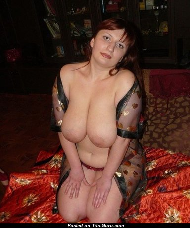 Hot Brunette Wife with Hot Bald Natural Soft Tits (Home Porn Picture)