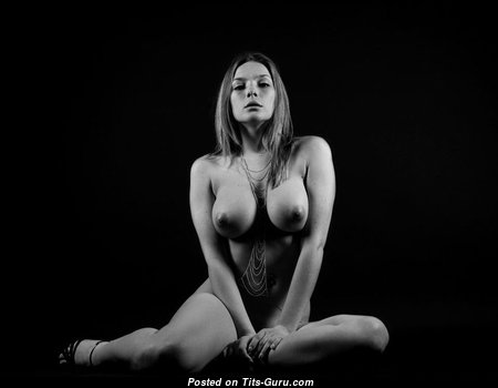 Superb Babe with Superb Exposed Real Medium Sized Titties (Porn Pic)