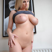 Hot lady with natural tittes photo