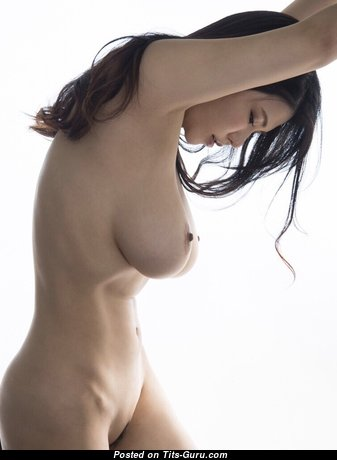 Anri Okita - The Nicest Topless Japanese, British Brunette Babe & Pornstar with The Nicest Open Real D Size Melons (18+ Pic)