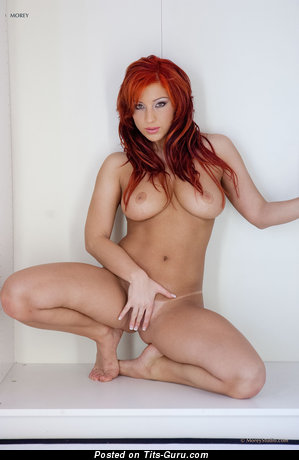 Image. Ashley Robbins - sexy naked red hair with medium boobies and big nipples pic
