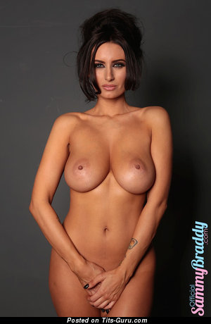 Image. Sammy Braddy - brunette with medium natural breast image