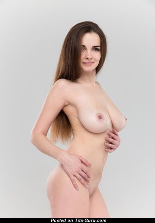 Maible - Hot Brunette with Hot Nude Natural Soft Boobies & Large Nipples (Hd Sexual Image)