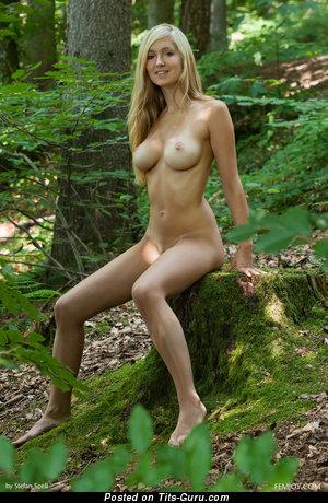 Daniela Rosch - sexy nude blonde with medium natural boobs photo