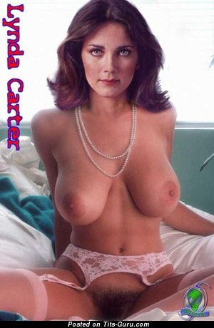 Lynda Carter - nude wonderful female with medium natural tittys pic
